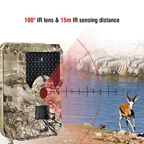 piel-Kamera, im Freien 1080P 12MP wasserdichte Tarnungs-Pfadfinder-Jagd-Kamera mit Nachtsicht für die Überwachung der wild lebenden Tiere ()