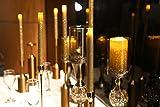 Verdadera Cera Llevó Velas de Pilar Sin Llama con Temporizador con el Polvo Del Brillo, para Boda Fiesta En Casa Decoración de La Navidad, 3x4 pulgadas