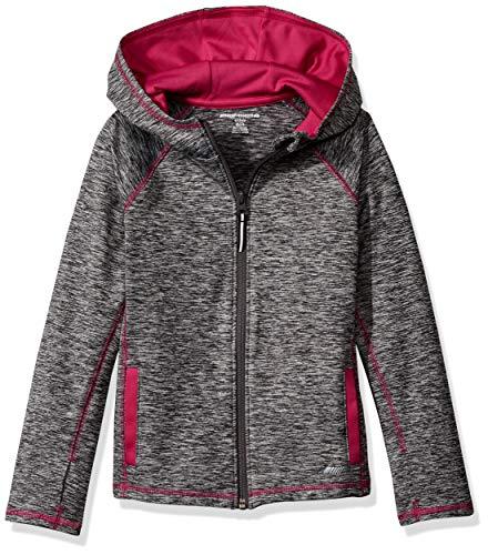 Amazon Essentials - Chaqueta deportiva con cremallera completa para niña, Grey Spacedye, 95 cm  Talla...
