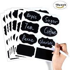 Idea Regalo - Pacchetto di etichette,Vegbirt 80 Pezzi Pacchetto di etichette in stile lavagna con penna riutilizzabile
