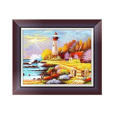 Loegrie 5d Diamant Broderie Peinture de paysage de bord de mer au point de croix Art Craft Home Decor