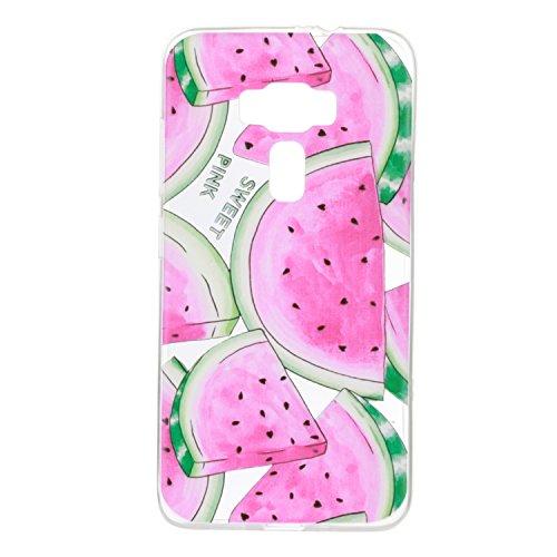 Qiaogle Téléphone Coque - Soft TPU Silicone Housse Coque Etui Case Cover pour Apple iPhone 5 / 5G / 5S / 5SE (4.0 Pouce) - HX39 / Couple mouse HX24 / Pastèque