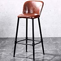 ZHJBD Furniture Stool/Tall Bar Stool,Counter Height Chairs,Dining Side Chair, Coffee Kitchen Industrial Chair,Low Back and Upholstered Seat, 330 lbs Capacity (Size : 80cm 31.5inch)