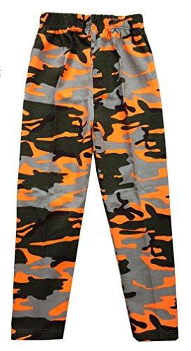 Mädchen Leggings Camouflage Tarn Hose in Orange, Gr. 86, M1.5