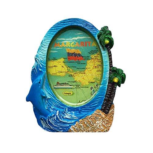 Margarita Venezuela 3D-Kühlschrank-Magnet, Reise-Aufkleber, Spiegel-Stil, Souvenir, Home & Kitchen Dekoration, Margarita Venezuela Kühlschrankmagnet