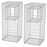2 Pz Pali/Fioriere in Gabbione in Rete Acciaio 50x50x120 cm. Questo set gabbione sono un'ottima scelta sia per la progettazione del paesaggio residenziale che commerciale