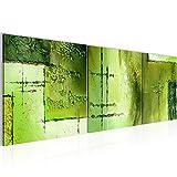 Bilder Abstrakt Wandbild 120 x 40 cm Vlies - Leinwand Bild XXL Format Wandbilder Wohnzimmer Wohnung Deko Kunstdrucke Grün 3 Teile -100% MADE IN GERMANY - Fertig zum Aufhängen 100933c
