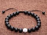 COAI® Geschenkidee Ein Paar Partner Armbänder aus Howlith und Eingeschliffenem Onyx für Damen und Herren