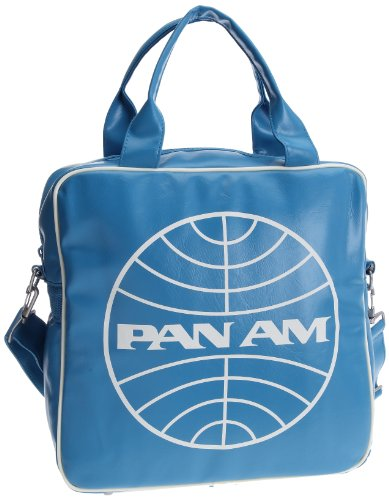 logoshirt-pan-am-globe-record-bag-borsa-a-tracolla-blu-turquoise-taglia-unica