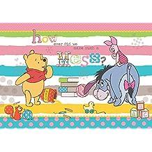 LICENCIA 809P8 DISNEY Winnie the Pooh de papel pintado para habitación Niños Multicolor 368 x 254 cm