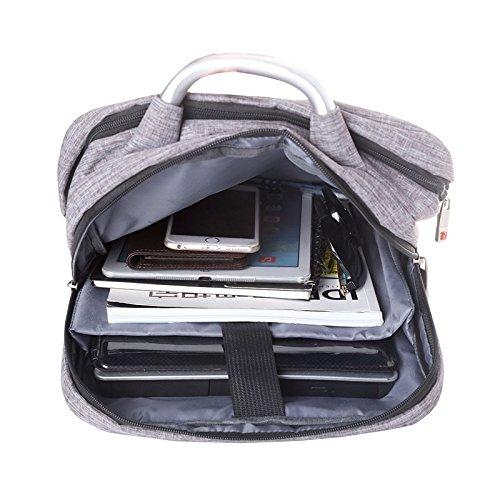 Z&HXLaptop Tasche Rucksack Tasche Laptop wasserdicht Multifunktions-Mode l?ssig Black