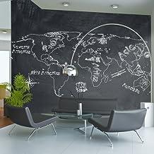 papier peint intiss carte du monde. Black Bedroom Furniture Sets. Home Design Ideas