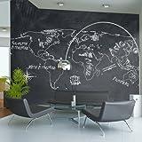 murando – Papier peint intissé 350x270 cm - Papier peint - Trompe l oeil - Tableaux muraux - déco – XXL la carte du monde - 10040910-56