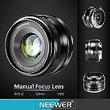 Neewer® NW-E-50-2.0 50mm f/2.0 Manueller Fokus Prime Fest Objektiv für Sony E-Mount Digitalkameras, wie Sony NEX3, 3N, 5, 5T, 5R, 6, 7, A5000, A5100, A6000, A6100 und A6300