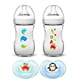 Philips AVENT Naturnah Starterset // Sea Dreams // 2 x 260ml Naturnah Anti-Kolik Flasche // 2 x Avent Schnuller Classic 0-6 Monate