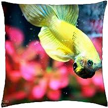 Amarillo - cojín de peces Betta funda (18