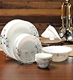 #9: Smart Dine La Opala Diva 13 Pcs Mystrio Black Dinner Set