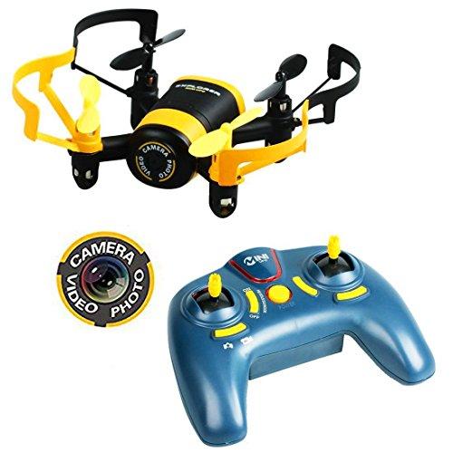 Luxon Mini Drone RTF 2.4ghz 4canaux gyroscope 6axes Radio Commande Mini Quadcopter Mode sans Jouet avec tête 3D à rabat 360° Roll Over radiocommandée