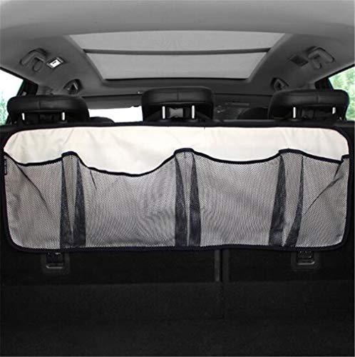 Lucky-Y Auto Boot Organizer Aufbewahrungstasche, Oxford Tuch Multi Tasche Für Fahrzeugsicherheit Artikel Auto Reinigung Werkzeuge Zubehör Beige