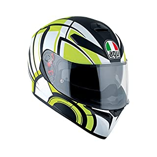 AGV k3-sv DVS Full Face Motorrad Helm Deckel–Avior-weiß/lime Maus