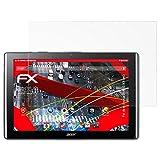 atFolix Panzerschutzfolie für Acer Iconia One 10 (B3-A40) Panzerfolie - 2 x FX-Shock-Antireflex blendfreie stoßabsorbierende Displayschutzfolie