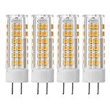 Sunix 4stk 7W GY6.35 LED Birne, 75 2835 SMD LED, 400-430LM, Nicht dimmbar, Warmweiß, 3000K, 360 Grad Strahlwinkel, Keramische Glühbirne LD858