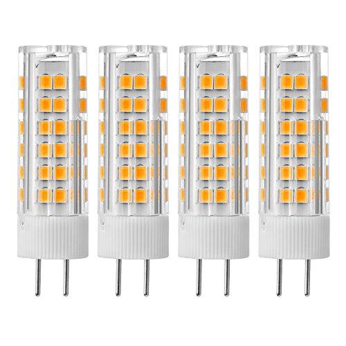 Preisvergleich Produktbild Sunix 4stk 7W GY6.35 LED Birne, 75 2835 SMD LED, 400-430LM, Nicht dimmbar, Warmweiß, 3000K, 360 Grad Strahlwinkel, Keramische Glühbirne LD858
