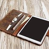 "Leather iPad pro 12.9 case / 2019 iPad mini 5 / air 10.5""/ iPad 9.7"" Leather Portfolio Case with apple pencil holder - distressed leather"
