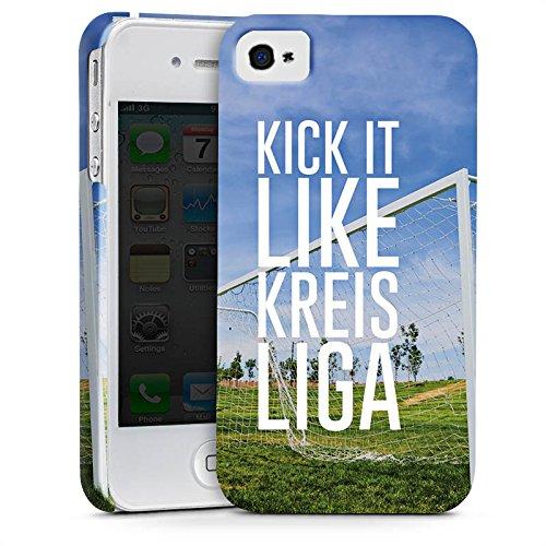 Apple iPhone X Silikon Hülle Case Schutzhülle Kreisliga Fußball Tor Premium Case glänzend