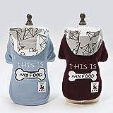 PZSSXDZW Pet Kleidung Hund Kleidung Haustier Kleidung Explosion Modelle Herbst und Winter Neue Knochen Zwei Beine Baumwollmantel
