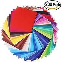 faltpapier Origami Papel 15x 15para DIY hecho a mano 200hojas 50Vívida Color