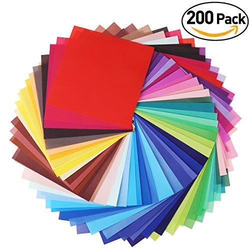 Faltpapier Origami Papier 15x15 für DIY Kunst Handwerk 200 Blatt 50 Lebendige Farbe