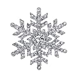 EVER FAITH österreichischen Kristall Schneeflocke Blume elegant Braut Brosche Klar Silber-Ton A11453-1