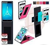 reboon Hülle für Ulefone Paris Tasche Cover Case Bumper | Pink | Testsieger
