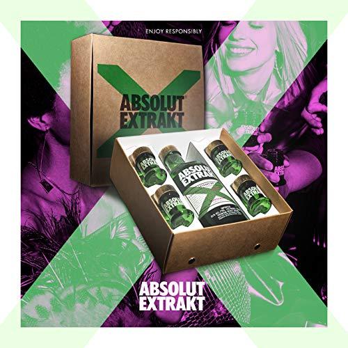 ABSOLUT Extrakt Vodka für unvergessliche Shot Erlebnisse, 1x 0,7L in Geschenkverpackung inkl. 4 Shotgläser