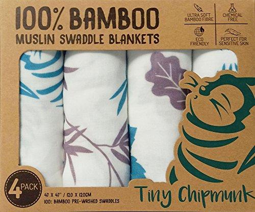 Tiny Chipmunk - 100% Muselina Bambú ara Bebés -