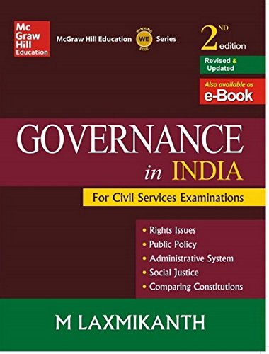 Governance in India for Civil Services Examinations (English) 2nd  Edition price comparison at Flipkart, Amazon, Crossword, Uread, Bookadda, Landmark, Homeshop18