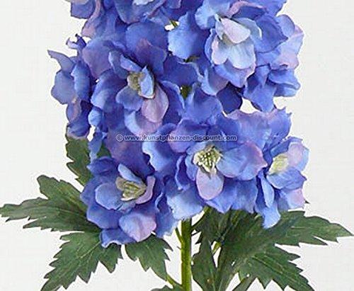 Kunstblume Rittersporn mit weiß/ blauen Blüten, Länge 95cm – Kunstpflanze Kunstbaum künstliche Bäume Kunstbäume Gummibaum Kunstoffpflanzen Dekopflanzen Textilpflanzen