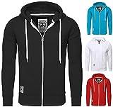 Akito Tanaka Herren Sweatjacke Jacke Weste Zip Pullover Hoodies Sweatshirt mit Kapuze grau, Grösse: XL