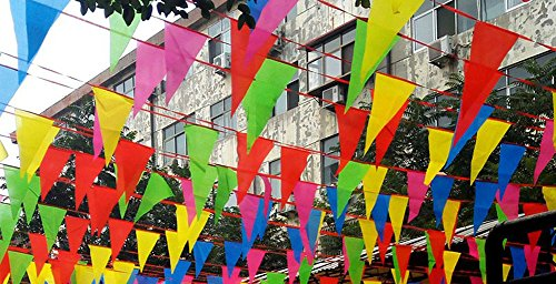 30 Metre Multicolor Bunting Banner 75 Large Flags Double Sided Indoor Outdoor Party Decoration