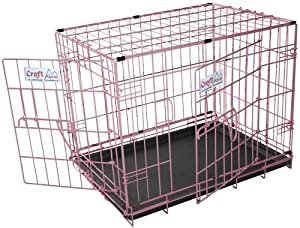 Croft Alpine Economy folding dog crate - PINK - 24ins - lightweight