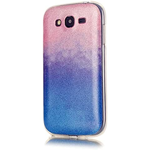 KSHOP Cáscara silicona TPU Bling Bling para Samsung Galaxy Grand Neo (GT-i9060, GT-i9060DS, GT-i9060L) Funda caso cristal color brillo Hermosa reluciente Case Cover anti los golpes - rosa y
