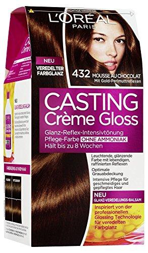L\'Oréal Paris Casting Crème Gloss Glanz-Reflex-Intensivtönung 432 in Mousse au Chocolat