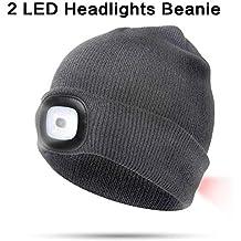 DIOSN Gorro de Lana con luz 8 o 4 Luces LED para Invierno 7e9fd7742fa