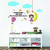 Rawpockets 'Twinkle Twinkle Little Star Rhyme ' Wall Sticker (PVC Vinyl, 120 Cm X 80cm)