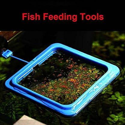 Gaddrt Aquarium Fish Feeding Ring, Fish Tank Station Floating Tary Food Feeder with Suction Caps 3