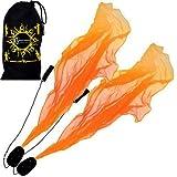 Flames N Games Pro ANGEL WINGS Poi Set (Orange) Spiral Poi. Swinging Poi und Spinning Pois! Pois für Anfänger und Profis.