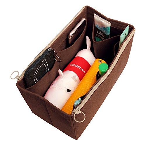 [Passt verschiedene Taschen, L.V. Her.mes Long.champ Go.yard] Filz Tote Organizer (w / abnehmbare Reißverschluss-Tasche), Geldbörse einfügen, Kosmetik-Make-up-Windel-Handtasche, Taschen -