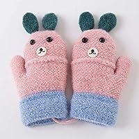 Unbekannt XIAOYAN Handschuhe Kind Handschuhe warme Winter Baby Boy Girl Handschuhe für 3-7 Jahre alt blau grau Marine Pink Bequem