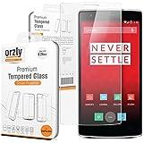 Orzly à - OnePlus ONE Prime Protecteur Verre Trempé 0,24 mm - Protection d'écran pour ONE PLUS ONE SmartPhone (Alias: 'ONE' Modèle de Téléphone Mobile à partir de ONE PLUS) - Nouvau 2014